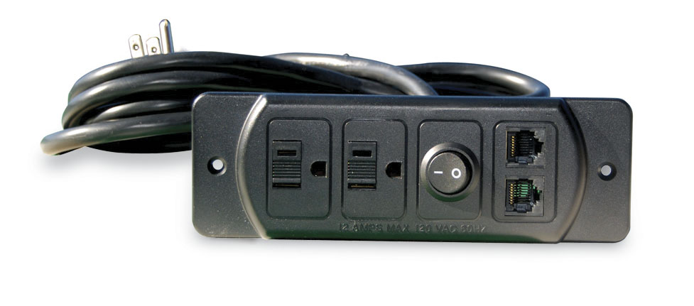 Fc 738 Two Plug With Dual Data Jacks And Rocker Switch